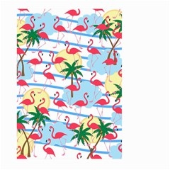 Flamingo Pattern Large Garden Flag (two Sides) by Valentinaart
