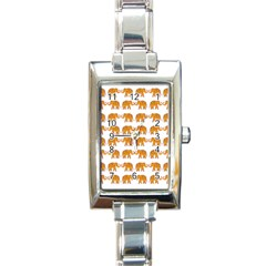 Indian Elephant  Rectangle Italian Charm Watch by Valentinaart