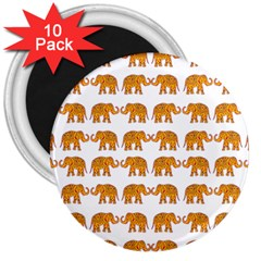 Indian Elephant  3  Magnets (10 Pack)  by Valentinaart