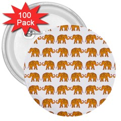 Indian Elephant  3  Buttons (100 Pack)  by Valentinaart