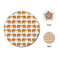 Indian Elephant  Playing Cards (round)  by Valentinaart