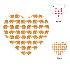 Indian Elephant  Playing Cards (heart)  by Valentinaart