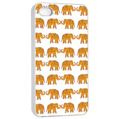 Indian Elephant  Apple Iphone 4/4s Seamless Case (white) by Valentinaart