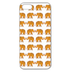 Indian Elephant  Apple Seamless Iphone 5 Case (clear) by Valentinaart