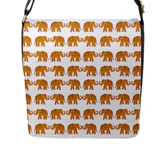 Indian Elephant  Flap Messenger Bag (l)  by Valentinaart