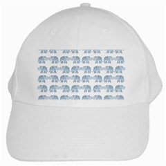 Indian Elephant  White Cap by Valentinaart