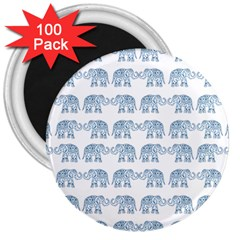 Indian Elephant  3  Magnets (100 Pack) by Valentinaart