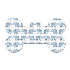 Indian Elephant  Dog Tag Bone (one Side) by Valentinaart
