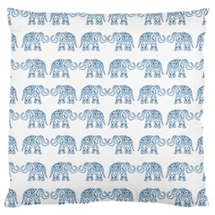 Indian Elephant  Large Cushion Case (two Sides) by Valentinaart