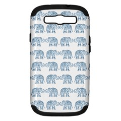 Indian Elephant  Samsung Galaxy S Iii Hardshell Case (pc+silicone) by Valentinaart