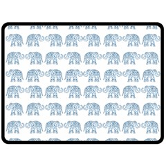 Indian Elephant  Double Sided Fleece Blanket (large)  by Valentinaart