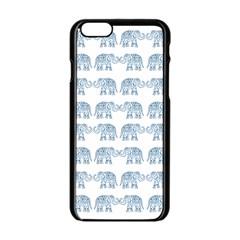 Indian Elephant  Apple Iphone 6/6s Black Enamel Case by Valentinaart