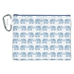 Indian Elephant  Canvas Cosmetic Bag (xxl) by Valentinaart