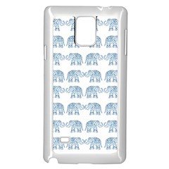 Indian Elephant  Samsung Galaxy Note 4 Case (white) by Valentinaart
