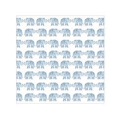 Indian Elephant  Small Satin Scarf (square) by Valentinaart