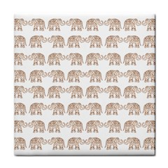 Indian Elephant Tile Coasters by Valentinaart