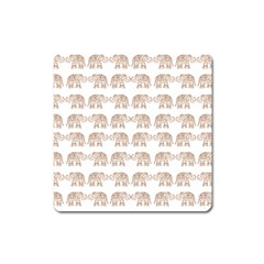 Indian Elephant Square Magnet by Valentinaart