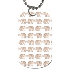 Indian Elephant Dog Tag (one Side) by Valentinaart