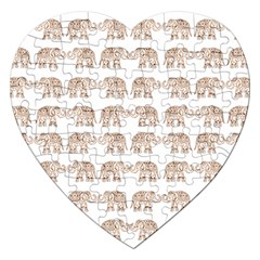 Indian Elephant Jigsaw Puzzle (heart) by Valentinaart