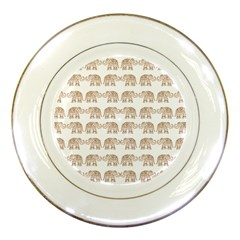 Indian Elephant Porcelain Plates by Valentinaart
