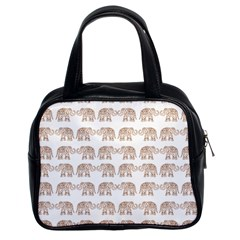 Indian Elephant Classic Handbags (2 Sides) by Valentinaart