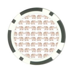 Indian Elephant Poker Chip Card Guard (10 Pack) by Valentinaart