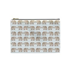 Indian Elephant Cosmetic Bag (medium)  by Valentinaart