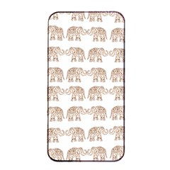 Indian Elephant Apple Iphone 4/4s Seamless Case (black) by Valentinaart
