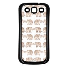 Indian Elephant Samsung Galaxy S3 Back Case (black) by Valentinaart