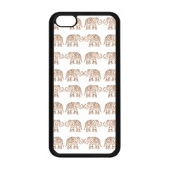 Indian Elephant Apple Iphone 5c Seamless Case (black) by Valentinaart