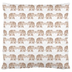 Indian Elephant Large Flano Cushion Case (two Sides) by Valentinaart