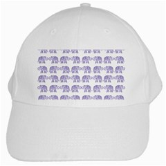 Indian Elephant Pattern White Cap by Valentinaart