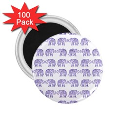 Indian Elephant Pattern 2 25  Magnets (100 Pack)  by Valentinaart