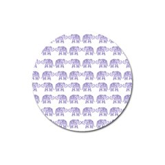 Indian Elephant Pattern Magnet 3  (round) by Valentinaart