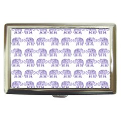 Indian Elephant Pattern Cigarette Money Cases by Valentinaart