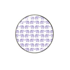 Indian Elephant Pattern Hat Clip Ball Marker by Valentinaart