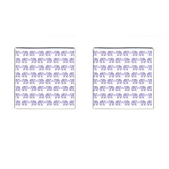 Indian Elephant Pattern Cufflinks (square) by Valentinaart