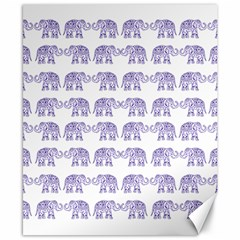 Indian Elephant Pattern Canvas 8  X 10  by Valentinaart