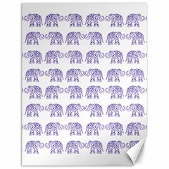 Indian Elephant Pattern Canvas 12  X 16   by Valentinaart