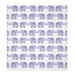 Indian Elephant Pattern Shower Curtain 66  X 72  (large)  by Valentinaart
