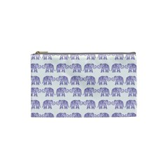 Indian Elephant Pattern Cosmetic Bag (small)  by Valentinaart