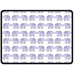 Indian Elephant Pattern Fleece Blanket (large)  by Valentinaart
