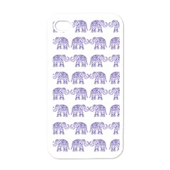 Indian Elephant Pattern Apple Iphone 4 Case (white) by Valentinaart
