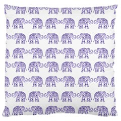 Indian Elephant Pattern Large Cushion Case (two Sides) by Valentinaart