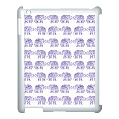 Indian Elephant Pattern Apple Ipad 3/4 Case (white) by Valentinaart