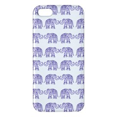 Indian Elephant Pattern Apple Iphone 5 Premium Hardshell Case by Valentinaart