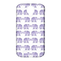 Indian Elephant Pattern Samsung Galaxy S4 Classic Hardshell Case (pc+silicone) by Valentinaart