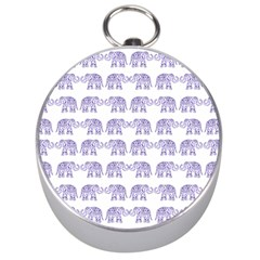 Indian Elephant Pattern Silver Compasses by Valentinaart