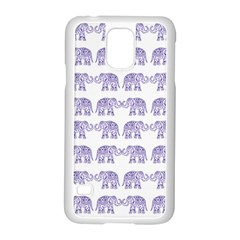 Indian Elephant Pattern Samsung Galaxy S5 Case (white) by Valentinaart