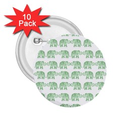 Indian Elephant Pattern 2 25  Buttons (10 Pack)  by Valentinaart